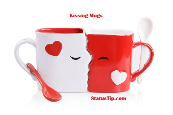 kissing mugs