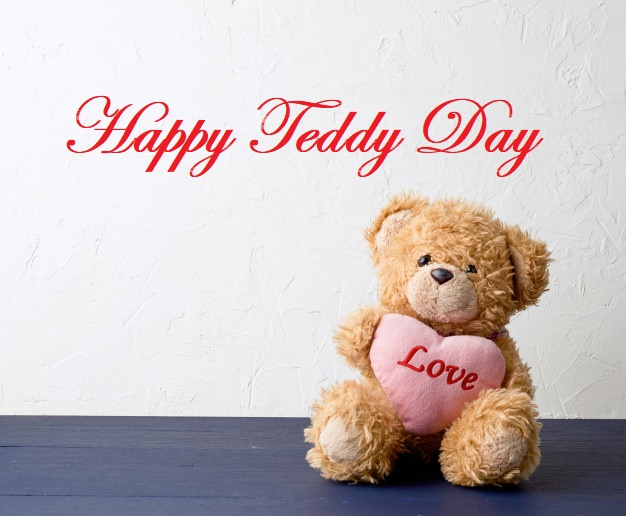 happy teddy bear valentine