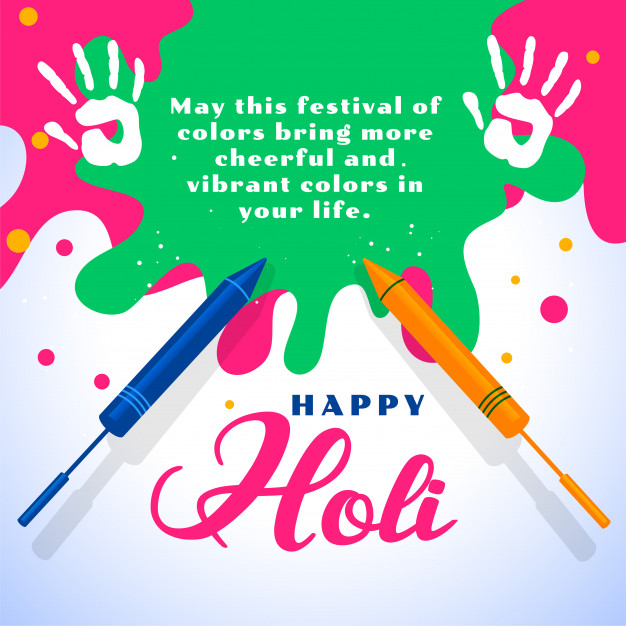 happy holi wishes card